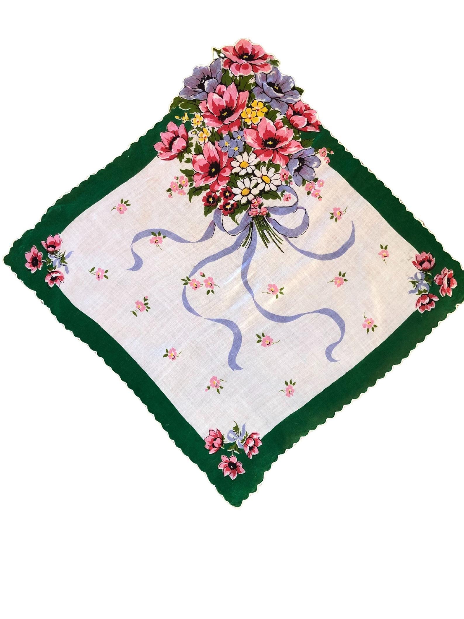 Vintage Bouquet Handkerchief