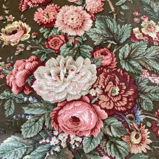 1950s Bailey & Griffin Floral Fabric Sample