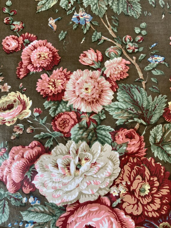 Vintage Bailey & Griffin Floral Fabric Sample