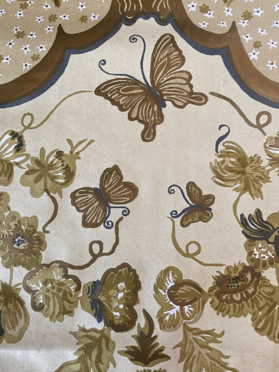 vintage butterfly fabric
