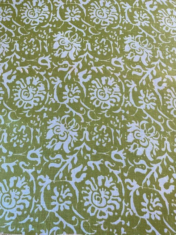 "1960s Eaglesham ""Resist"" Chartreuse Fabric Sample"