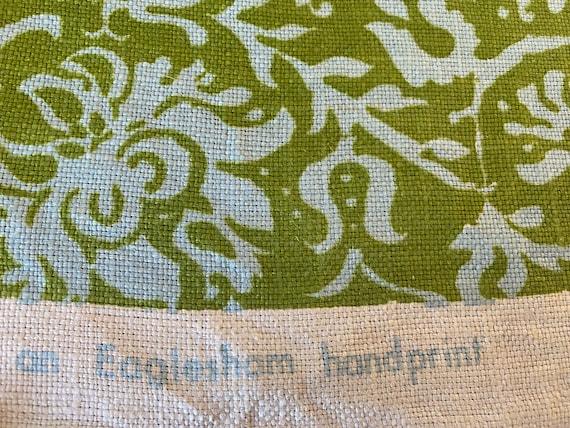 """Vintage 1960s Eaglesham """"Resist"""" Chartreuse Fabric Sample"""