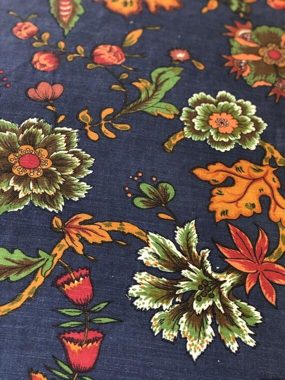 "Vintage 1960s Jofa ""Longwood"" Linen Fabric"