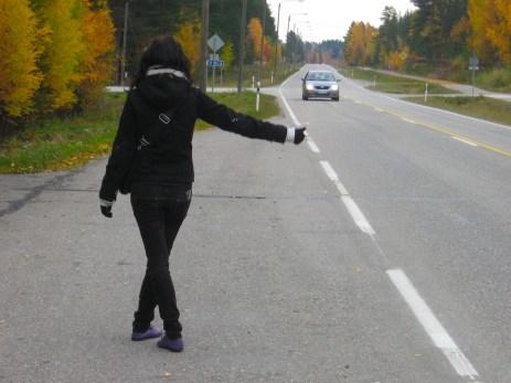 Hitchhiking from Ranua to Rovaniemi