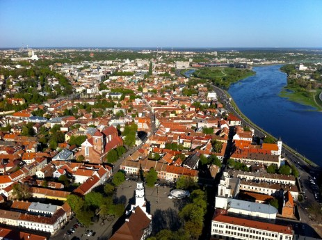 Kaunas Town Hall square and Old Town from hot air balloon (Photos by Gintarė Ada)