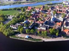 Kaunas Old Town from hot air balloon (Photos by Gintarė Ada)