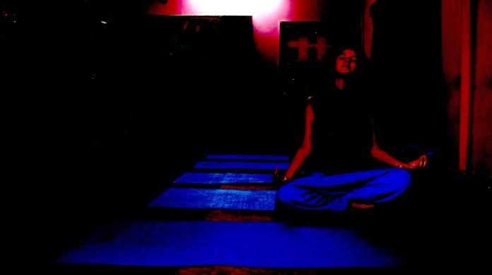 Yoga class in Rishikesh