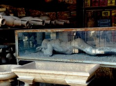 One of the most famous things from Pompeii - body of pregnant woman protecting baby.