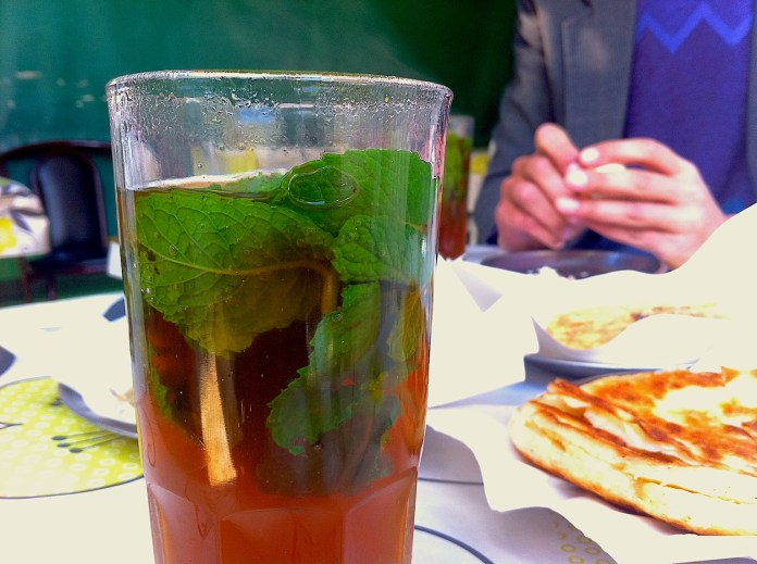 Mint Moroccan tea - like a business card of the country