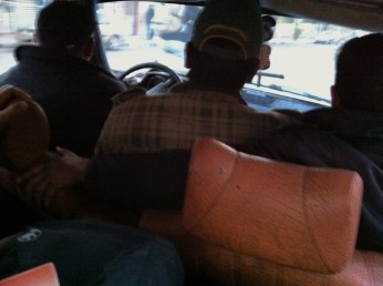 """Inside the """"Grand Taxi""""..."""