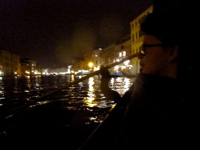 On taxi-gondola in Venice