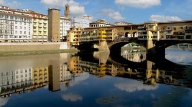 Ponte Vecchio bridge over the river Arno.