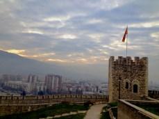 Panoramic view of Skopje