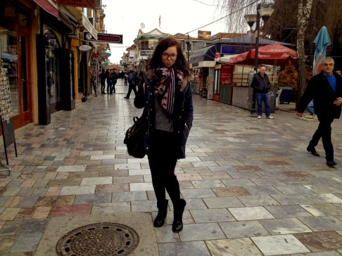 Me in the central street in Ohrid