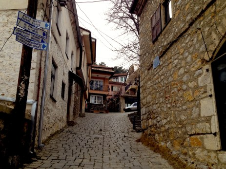 Going uphill to the Old part of Ohrid