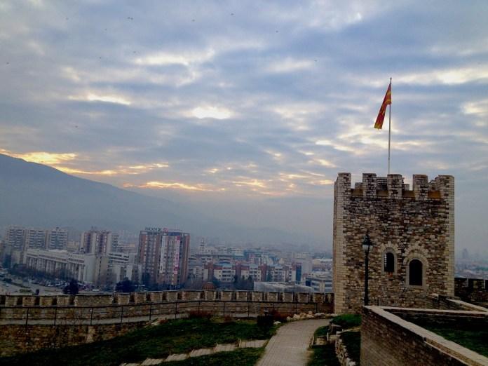 Sky over Skopje, Macedonia
