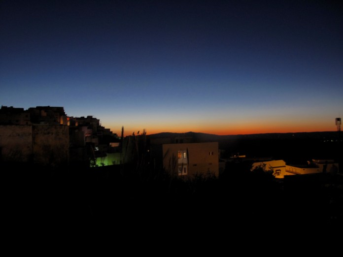 Night sky over Moulay Idriss, Morocco