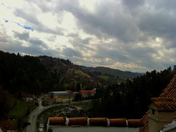 Sky views from the Bran castle, Romania