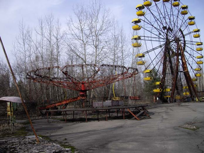 Visiting Pripyat ghost town, close to Chernobyl Nuclear Plant. photo borrowed from Lupinetravel.co.uk