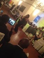 Singer, who is famous in Cameroon, made a show in Italy