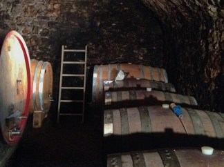 "Inside the wine cellars of ""Caparsa"" winery"
