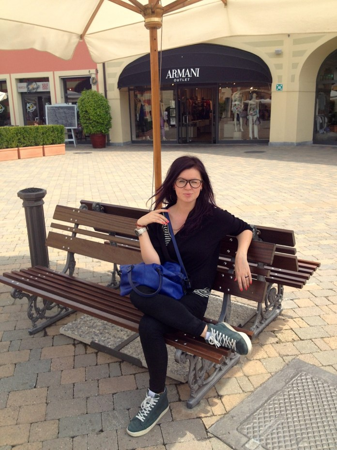 Me in one outlet village close to Milan