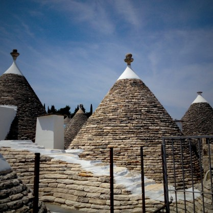Conical roofs of trulli dwellings in Alberobello