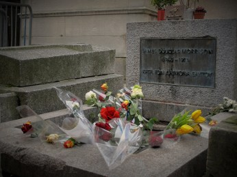 Jim Morrison's grave in Père Lachaise Cemetery a few year ago.