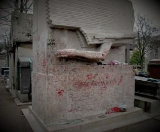 Oscar Wilde's grave in Père Lachaise Cemetery a few years ago.