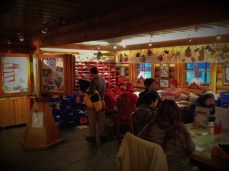 Inside the Santa Claus Post Office at the Arctic Circle in Rovaniemi, Lapland.