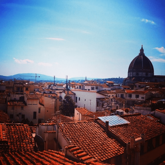 The view from one perfect residence in the heart of Florence, where once I stayed