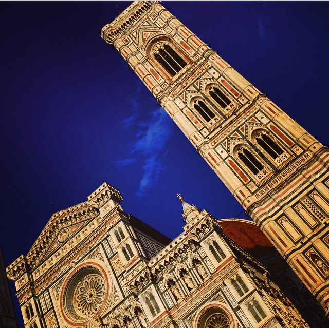 Florence Cathedral and magical sky