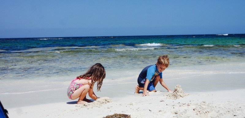 Kids playing at Point Louise
