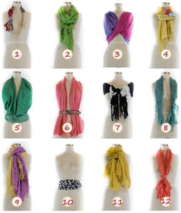 Как красиво завязать шарф | Как красиво завязывать шарф ...