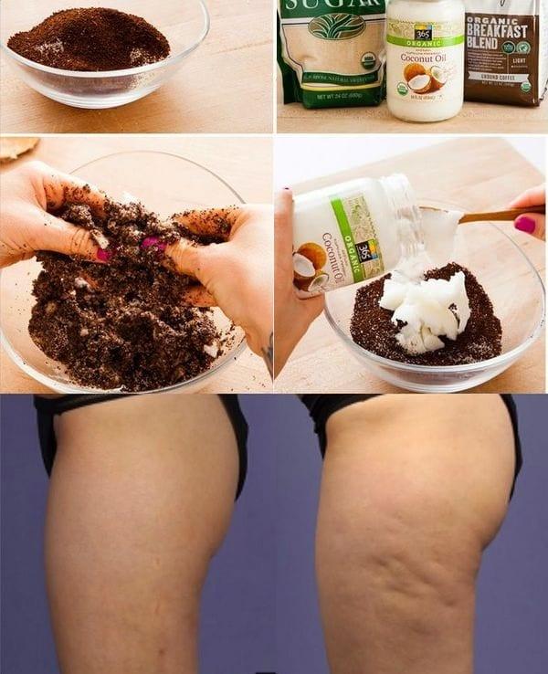 Кофейное обертывание для похудения ляшек