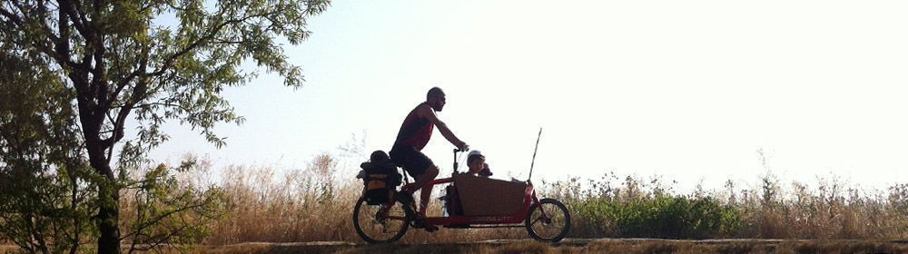 cargobike saliendo de Homps