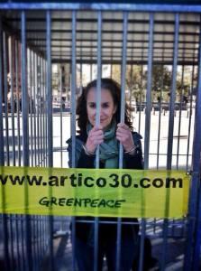 Ecocosmopolita en celda Greenpeace #FreeTheArtic30