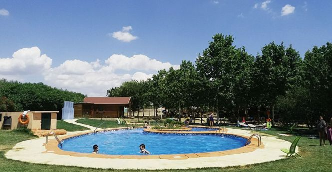 La piscina de Ecocamp Vinyols, camping ecológico