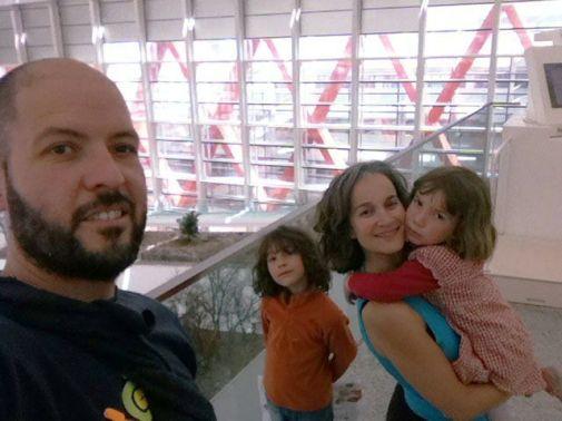 La familia en el Museo de la evolución humana
