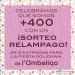 Cartel Sorteo Relámpago de Fiesta SOlidaria de L'Obeliqo