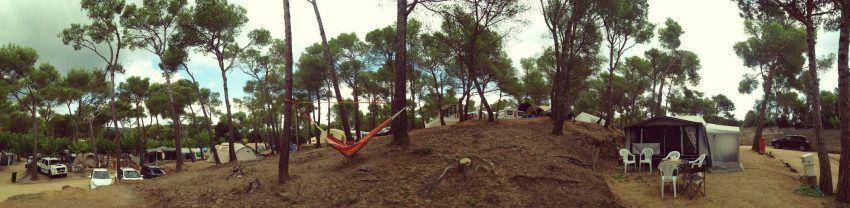 Panorámica de pineda, camping Benelux costa brava con niños