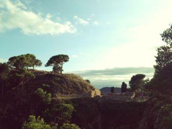 vista a lo lejos de poblado iberico El Castell