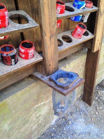 Ceniceros reciclados para playa, hechos de latas