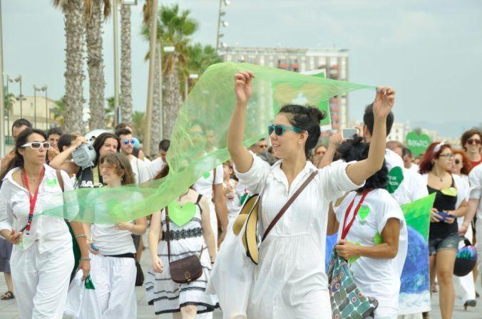 Marea blanca por la paz y verde por el Medio Ambiente