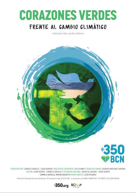 Poster Corazones Verdes frente al cambio climático