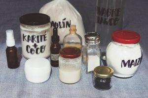materiales de la cosmética DIY