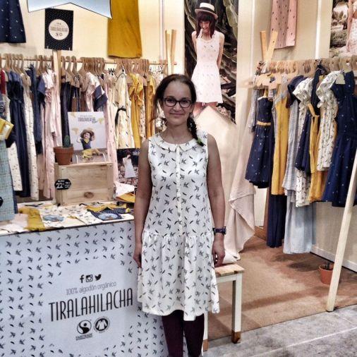 Vestido de Tiralahilacha, de algodón ecológico. Moda Sostenible estilo vintage.