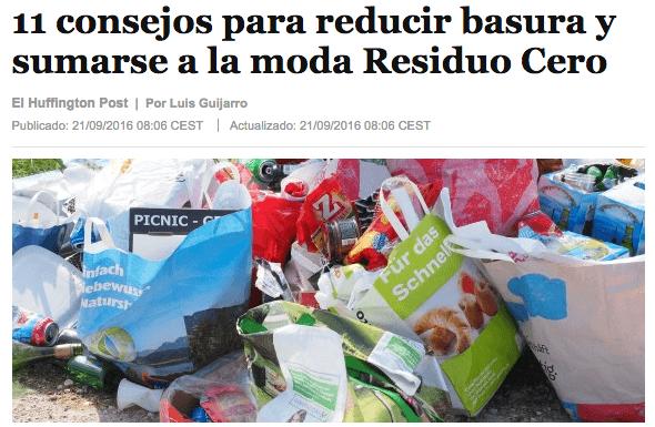 La moda zero waste o residuo cero. Huffington Post
