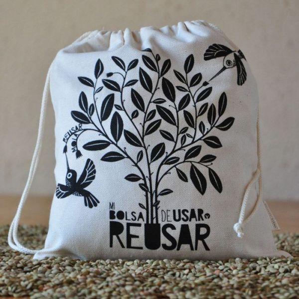Bolsa para comprar a granel. Zero waste de algodón orgánico