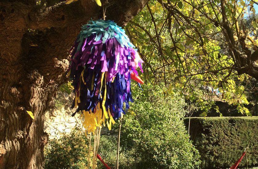 fiesta de cumpleaños sostenible: piñata reutilizable